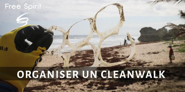 Organiser un cleanwalk ramasser les déchets sur une plage