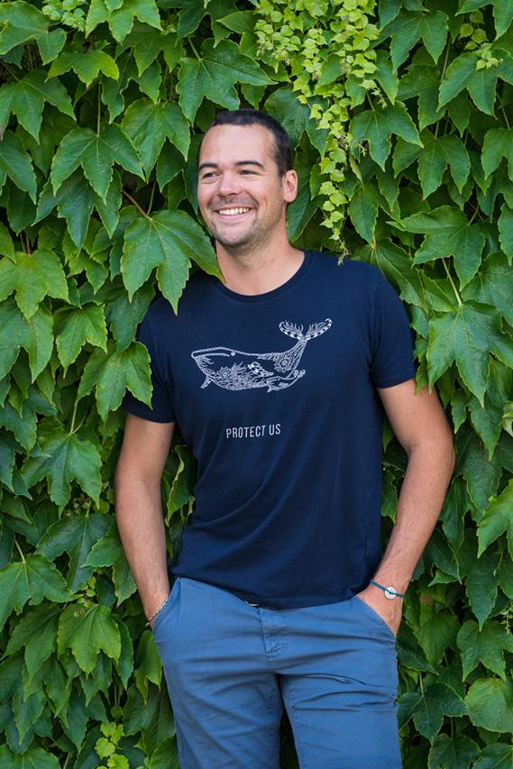 T-shirt PROTECT US protection de l'océan et des animaux marins