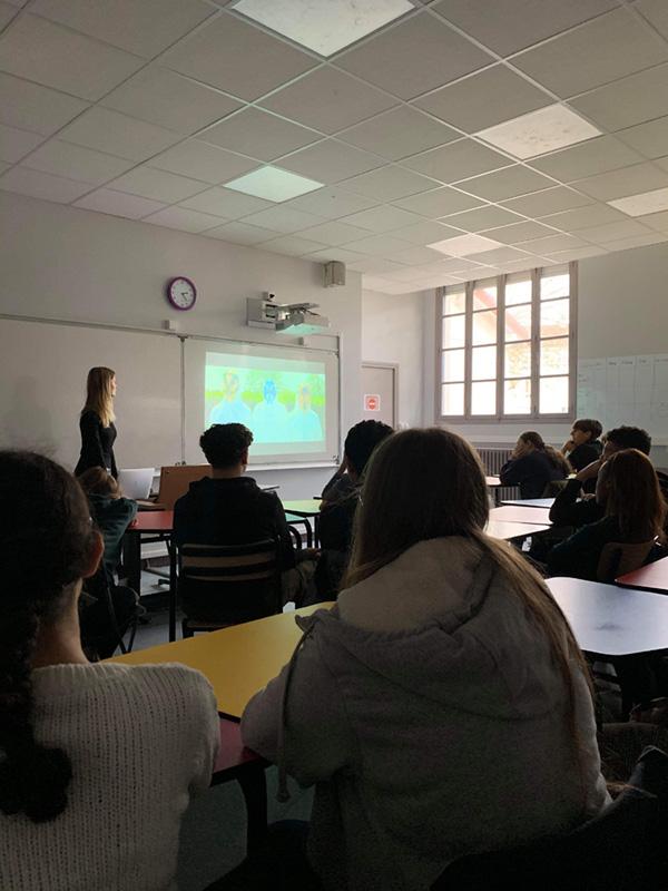 Interventjon du Free Spirit au Lycée Henri Matisse à Montreuil